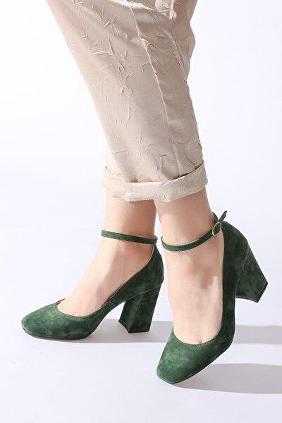 Yeşil Kadın Klasik Topuklu Ayakkabı 11112014189-2-04