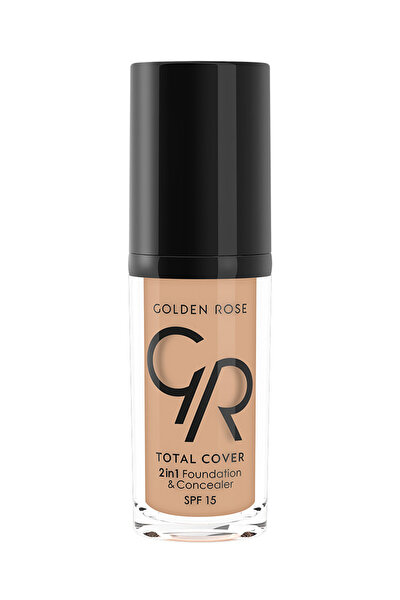 2'si 1 Arada Fondöten & Kapatıcı - Total 2 in 1 Foundation & Concealer No:15 8691190963750