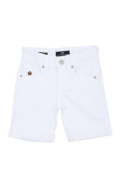 Erkek Çocuk Jeans Şort ANDERS X B WHITE DAISY UNDAMAGED WASH