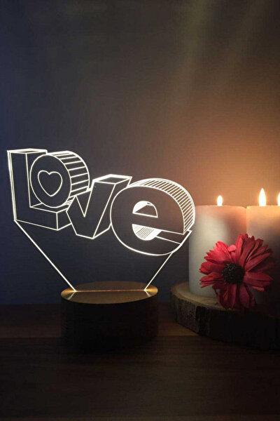 3 Boyutlu Love Lamba