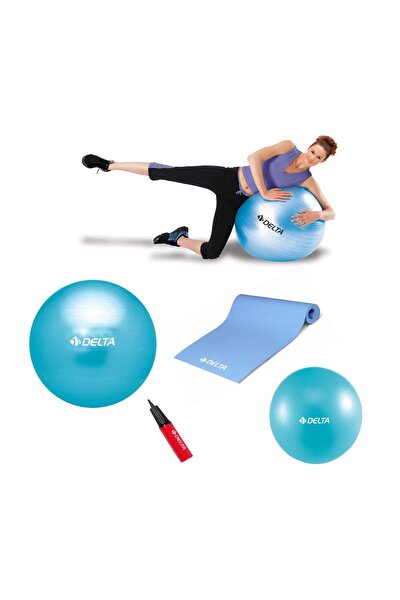 55 cm Pilates Topu 4 mm Minder 20 cm Mini Top Ve Pompa Seti