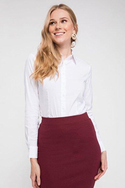 Kadın Basic Uzun Kollu Gömlek I5278AZ.19SP.WT34