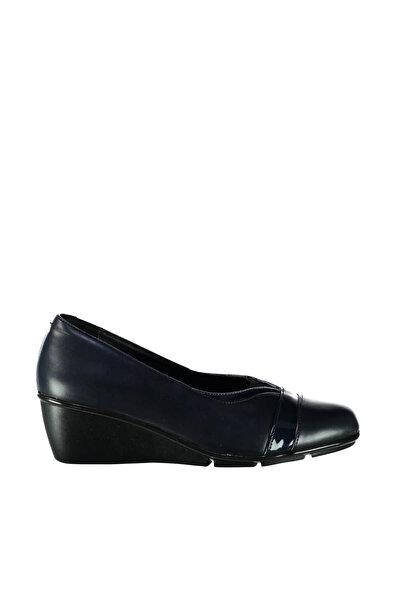 Lacivert Kadın Dolgu Topuklu Ayakkabı