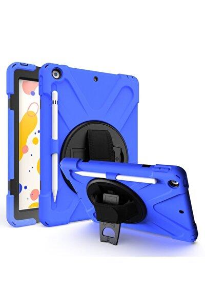 Apple Ipad Air 1-2 A1475-a1476-a1566 360 Standlı Ve Askılı Tablet Mavi