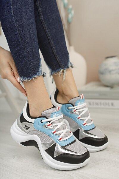 Kadın Gümüş Turkuaz Sneaker 0012601