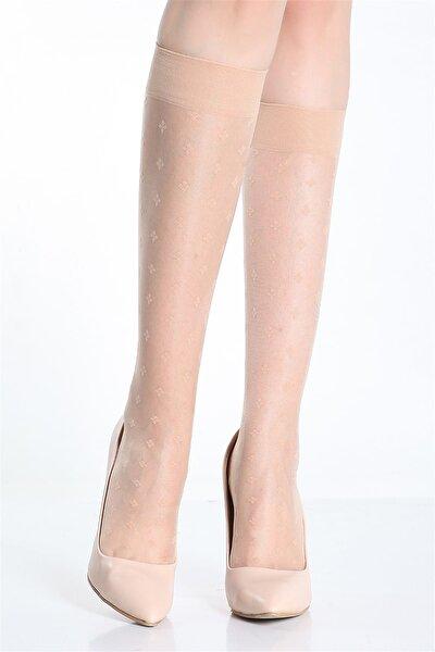 Desenli Dizaltı Çorap Esta