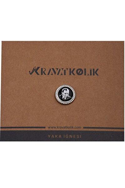 Erkek Siyah Renk Atatürk Yaka İğnesi YI315 KRVT8690002221889