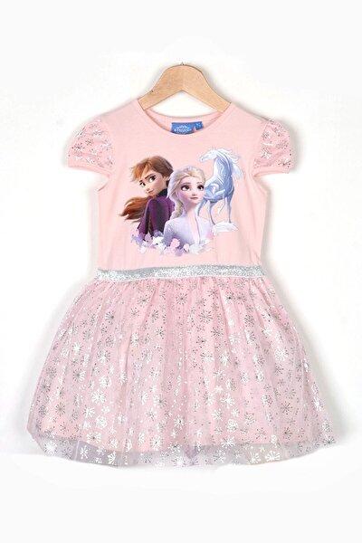 Kız Çocuk Pembe Elsa Elbise
