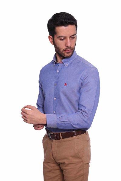 Uzun Kollu Erkek Gömlek Koyu Mavi 1912012