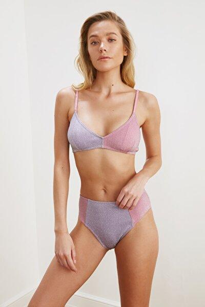 Lila Renk Bloklu Bikini Altı TBESS21BA0247