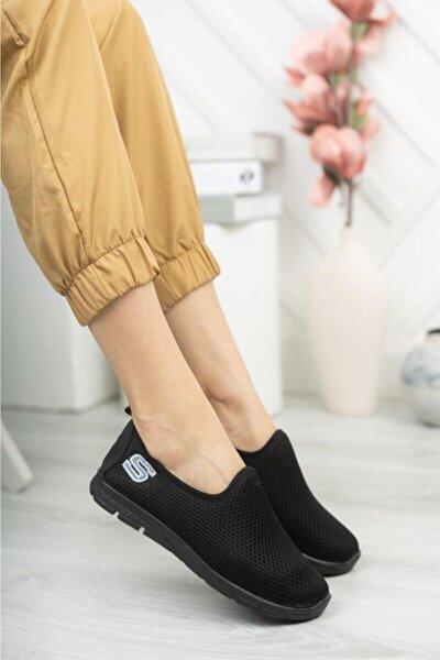 Kadın Siyah Hafif Taban Günlük Ayakkabı