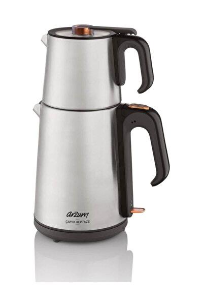 AR3023 Çaycı Heptaze Paslanmaz Çelik Çay Makinesi - Inox
