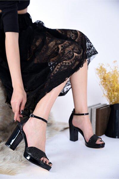 Kadın Abiye Kalın Topuklu Platform