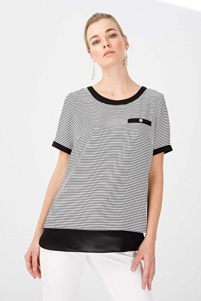 Kadın Siyah Çizgili Bluz