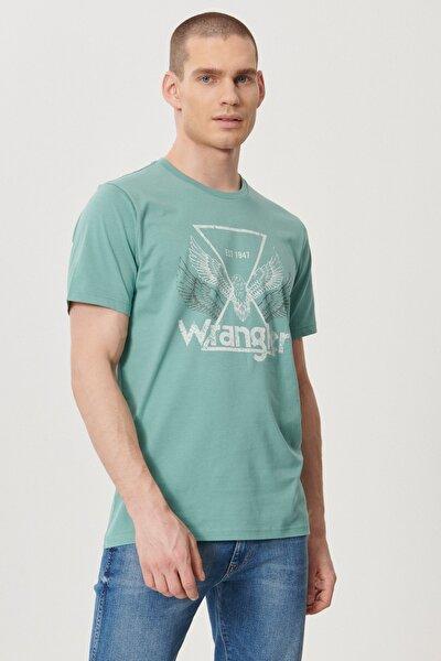 Erkek Yeşil Regular Fit Bisiklet Yaka T-shirt