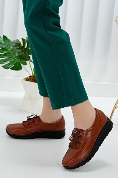 Kadın Taba Hakiki Deri Günlük  Yürüyüş Taban Anatomic Ayakkabı Artı-artı021-0001