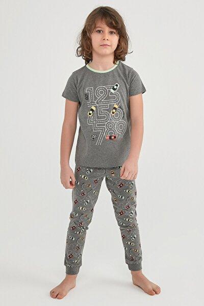 Erkek Çocuk Çok Renkli Number Race  2li Pijama Takımı