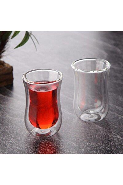 Çift Cidarlı Çay Bardağı 2'li
