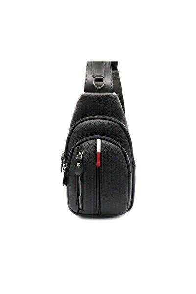 Unisex Siyah Çapraz Göğüs Ve Omuz Çantası Body Bag