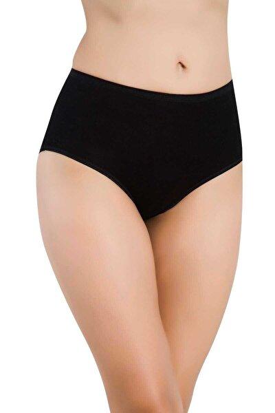 Kadın Siyah 3'lü Paket Bambu Yüksek Bel Bikini Külot