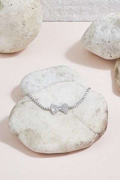 Kadın Taşlı Bileklik Gümüş Rengi K-3051053-040