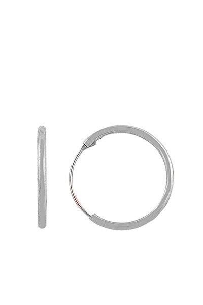 Kadın 925 Ayar Gümüş Mini Rodyumlu Halka Küpe SGTL7310
