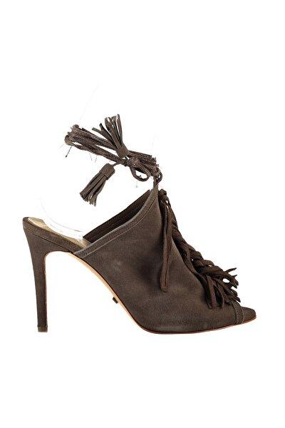 Hakiki Deri Taupe Kadın Topuklu Ayakkabı 120119972034