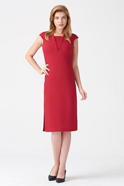Kadın Koyu Kırmızı Elbise 17K11112Y829
