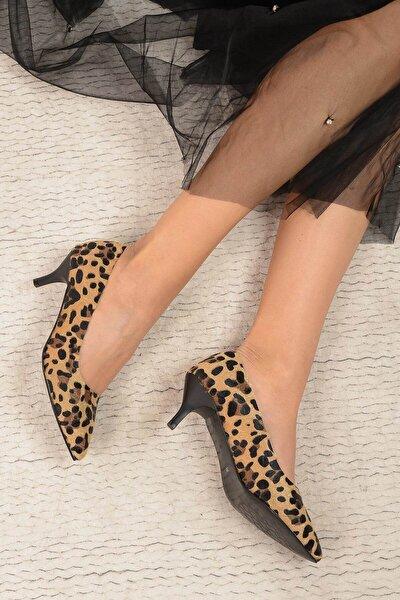 Leopar Kadın Topuklu Ayakkabı 17K 1951