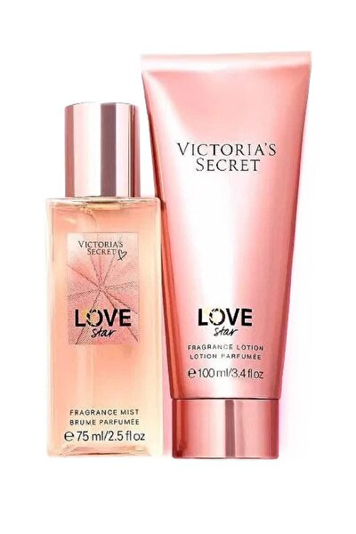 Love Star 75 ml Vücut Spreyi+100 ml Vücut Losyonu Kadın Parfüm Seti 667548365710