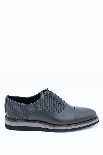 Erkek Siyah Deri Günlük Ayakkabı I1711459-3 M 1000