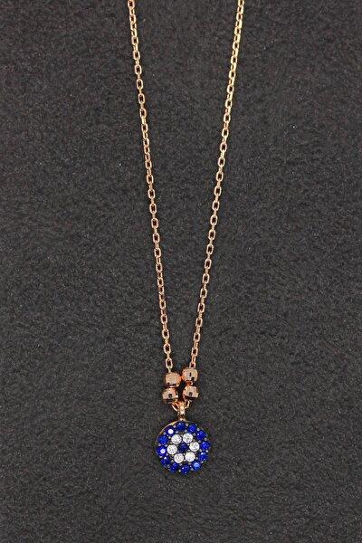 Kadın Nazar Rose Gümüş Kolye TGK0196