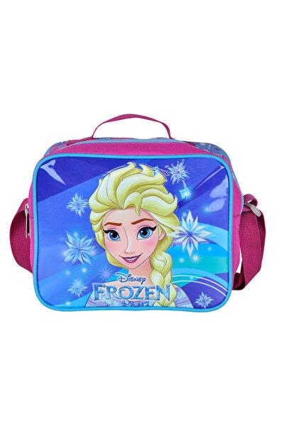 Disney Frozen Elsa Kabartmalı Mavi Kız Çocuk Beslenme Çantası /