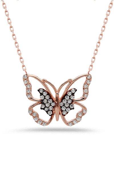 Kelebek Gümüş Kolye