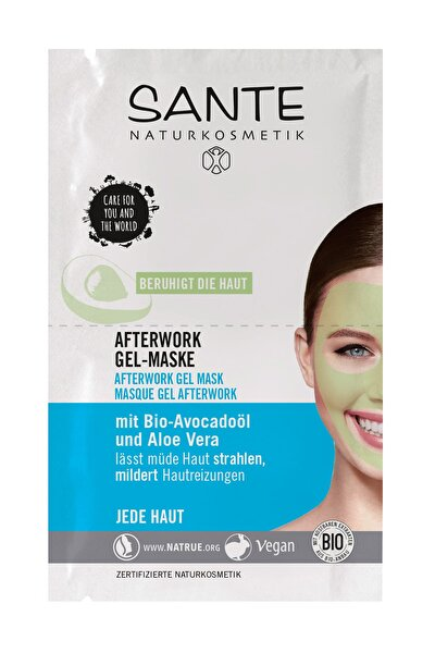 Yorgunluk giderici Organik Jel Maske Organik Avokado Yağı Ve Aloe Vera - 2X4 ml Saşe