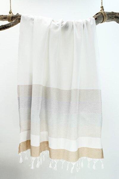 Peştemal Stripe  bej-beyaz-gri Pst107