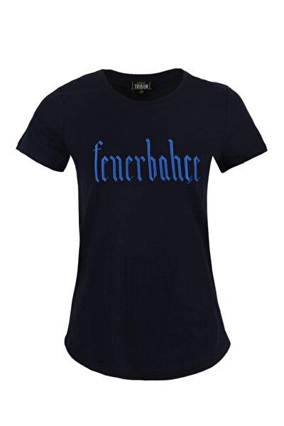 Kadın Tribun Simli Nakış T-Shirt