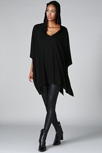 Kadın Siyah Panço HK2120