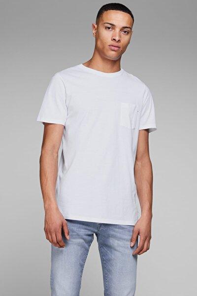 JJEPOCKET TEE SS O-NECK N Beyaz Erkek T-Shirt 101069449