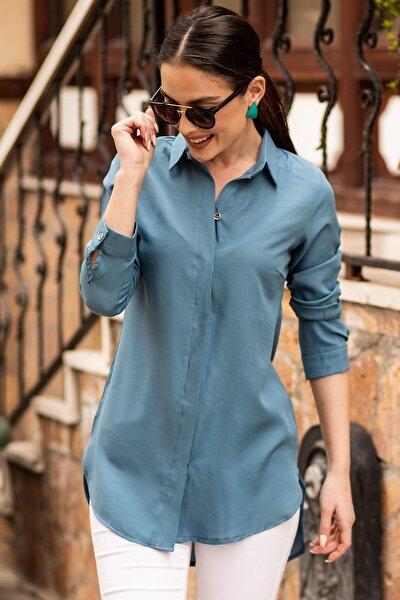 Kadın İndigo Tunik Gömlek ARM-19Y001003