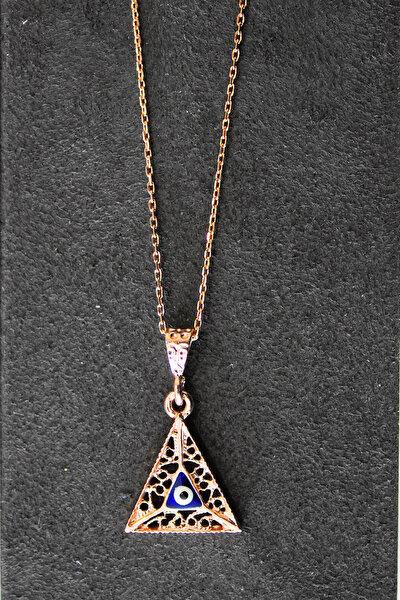 Kadın Nazarlı Rose Gümüş Kolye TGK0326