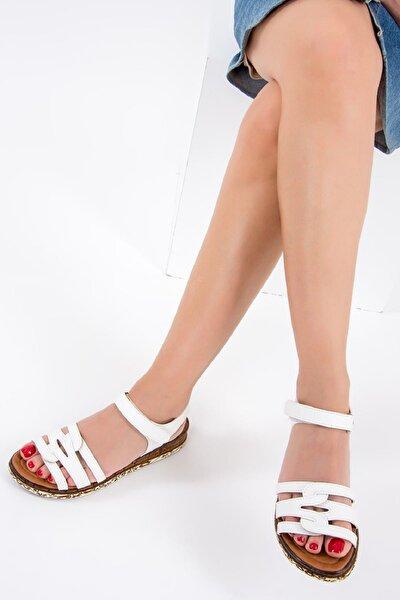 Beyaz Kadın Sandalet F288091109