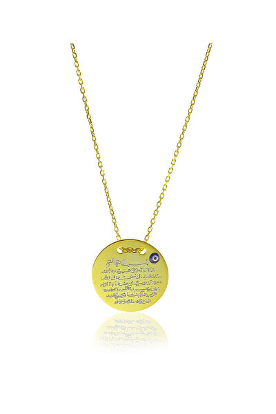 Kadın 925 Ayar Gümüş Mini Ayetel Kürsü Kolye SGTL5800