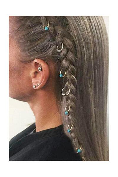 Kadın Nostaljik Saç Küpesi 7'Li