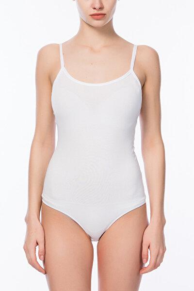 Beyaz Kadın Basic İnce Askı Body PLBASIAB13SK