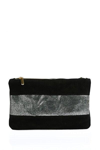 Kadın Siyah Omuz Çantası sgzd3577-siyah/silver
