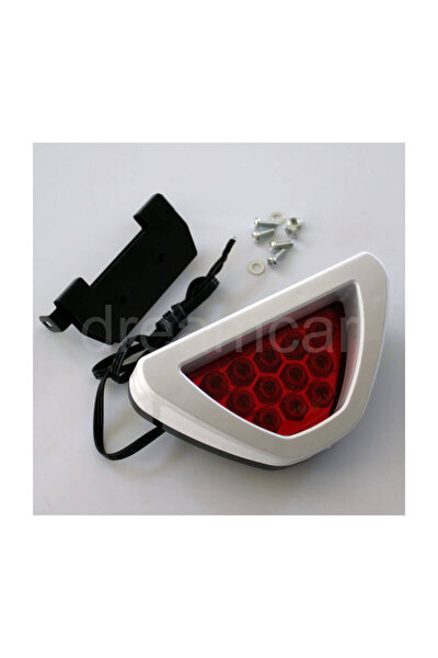 Beyaz F1 Style Kırmızı Flash Patlayan Stop Lamba 12Led
