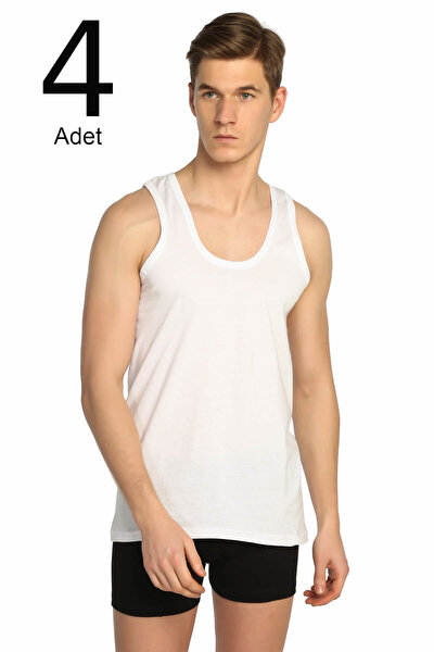 Erkek Beyaz 4'lü Paket Klasik Atlet ELF568T0101CCM4