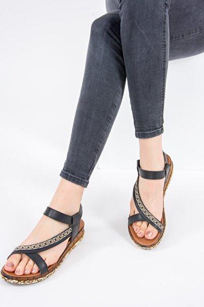 Siyah Kadın Sandalet F288091009