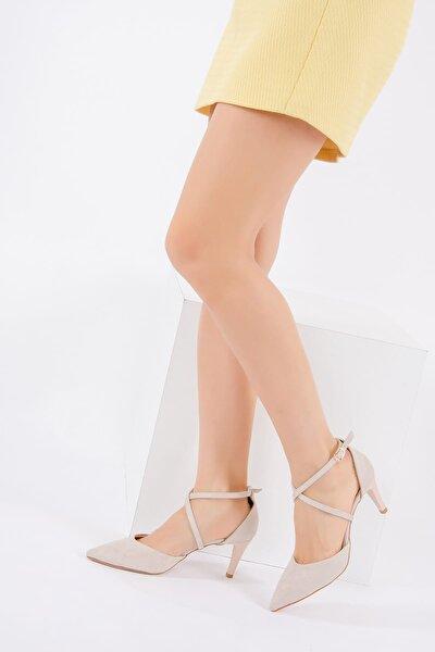 Bej Kadın Topuklu Ayakkabı D654054802